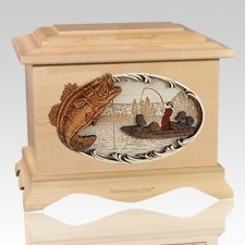 Catch of the Day Maple Cremation Urn