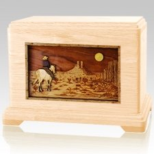 Last Ride Maple Cremation Urn For Two