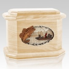 Catch of the Day Maple Octagon Cremation Urn