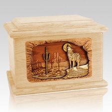Desert Moon Maple Memory Chest Cremation Urn