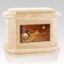Horse Moon Maple Octagon Cremation Urn