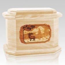 Elk Maple Octagon Cremation Urn