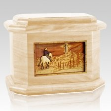 Last Horse Ride Maple Octagon Cremation Urn