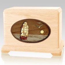 Sailing Home Maple Cremation Urn For Two