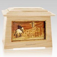 Last Horse Ride Maple Aristocrat Cremation Urn