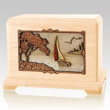 Sailboat Maple Hampton Cremation Urn