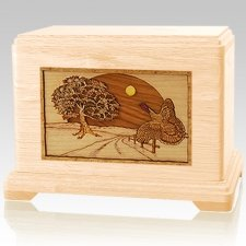 Turkey Maple Cremation Urn For Two