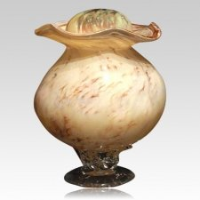Wood Glass Companion Cremation Urn