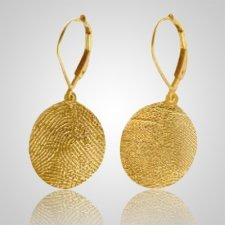 Ear Rings Print 14k Yellow Gold Keepsakes