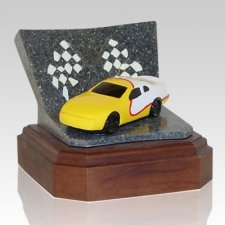 Yellow Race Car Keepsake Urn