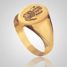 Signet Ring Print 14k Yellow Gold Keepsakes