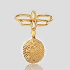 Hanging Pin Print 14k Yellow Gold Keepsakes
