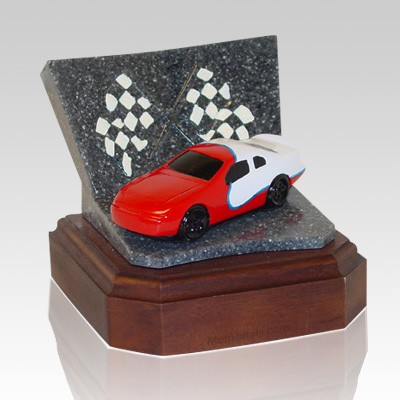 Red Race Car Keepsake Cremation Urn