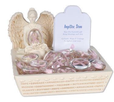 Awareness Pink Comfort Stone Keepsake Set
