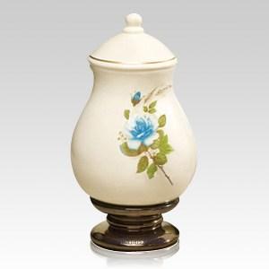 Blue Rose Large Ceramic Urn