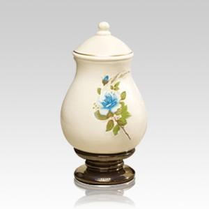 Blue Rose Keepsake Ceramic Urn