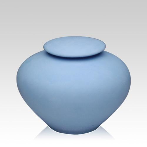 Blue Sea Porcelain Clay Urn