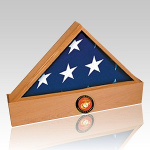 Jefferson Marine Oak Flag Case & Urn