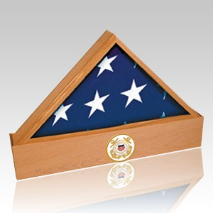 Jefferson Navy Oak Flag Case & Urn