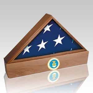 Lincoln Air Force Walnut Flag Case & Urn