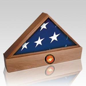 Lincoln Marine Walnut Flag Case & Urn