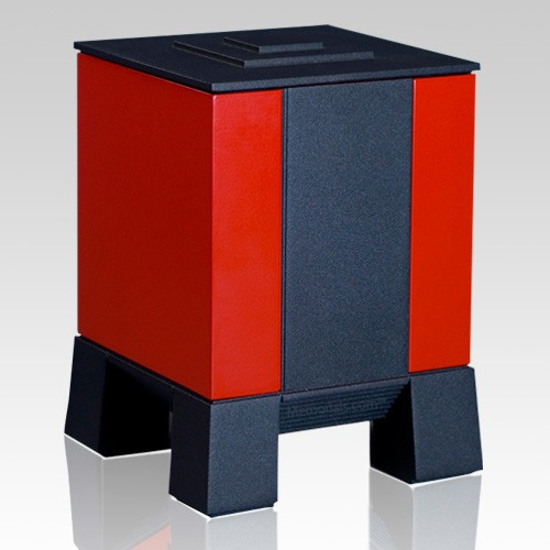 Red & Black Medium Cremation Urn