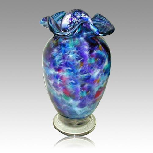 Sparkling Waters Glass Cremation Urn