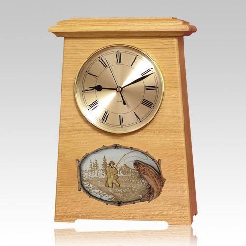 Streamfishing Astoria Clock Oak Cremation Urn