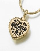 Filigree Heart Pet Cremation Jewelry II