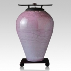Raku Tall Amethyst Cremation Urns