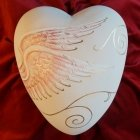 Angelic Ceramic Heart Urn