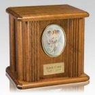 Angelic Wood Cremation Urn