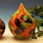 Autumn Tear Glass Pet Urns