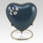 Azure Heart Pet Keepsake Urn