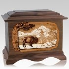 Bison Walnut Cremation Urn