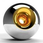 Chrome Gold Orb Urn