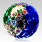 Colorburst Glass Cremation Urn