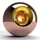 Copper Gold Orb Urn