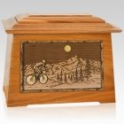 Cycling Mahogany Aristocrat Cremation Urn