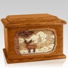 Deer Land Mahogany Memory Chest Cremation Urn