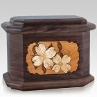 Dogwood Walnut Octagon Cremation Urn
