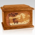 Elk Mahogany Memory Chest Cremation Urn