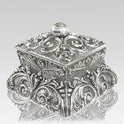 Filigree Silver Cremation Urn