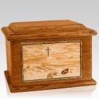 Footprints Mahogany Memory Chest Cremation Urn