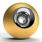 Gold & Chrome Orb Urn