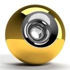 Gold Chrome Orb Urn