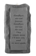 Goodbyes Are Not Tall Votive Stone