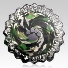 Green Swirl Pet Keepsake Urn