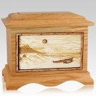 Hawaiian Oak Cremation Urn