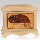 Heartland Deer Maple Cremation Urn
